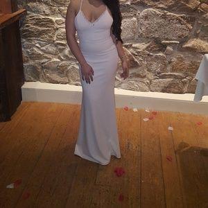 Lulu's Dresses - Blush body con lace dress